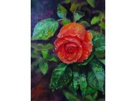 """Картина """"Слёзы розы""""."""