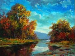 """Картина """"Осень на реке"""""""