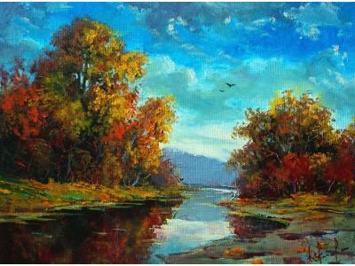 Пейзажи осенние, зимние, летние и весенние.