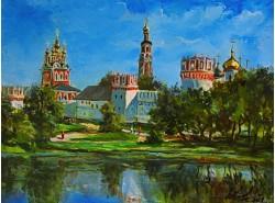 """Картина """"Новодевичий монастырь""""."""