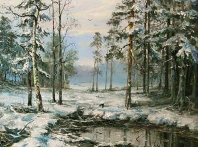 """Картина """"Первый снег"""""""