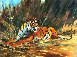 """Картина """"Тигр""""."""