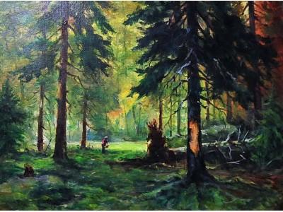 """Картина """"В еловом лесу"""""""