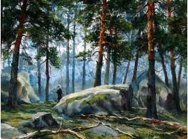"""Картина """"В заповедных лесах...""""."""